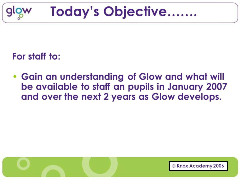 Todays Objective…….