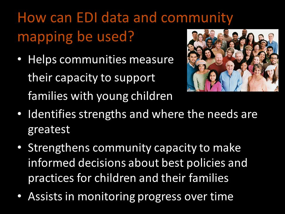 How can EDI data and community mapping be used.