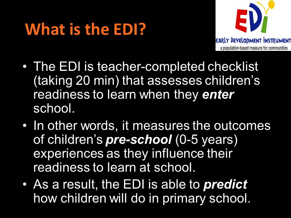 What is the EDI.