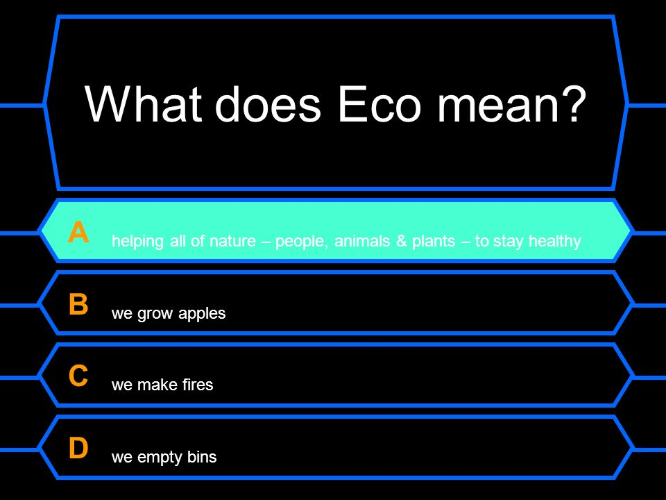 What does Eco mean.