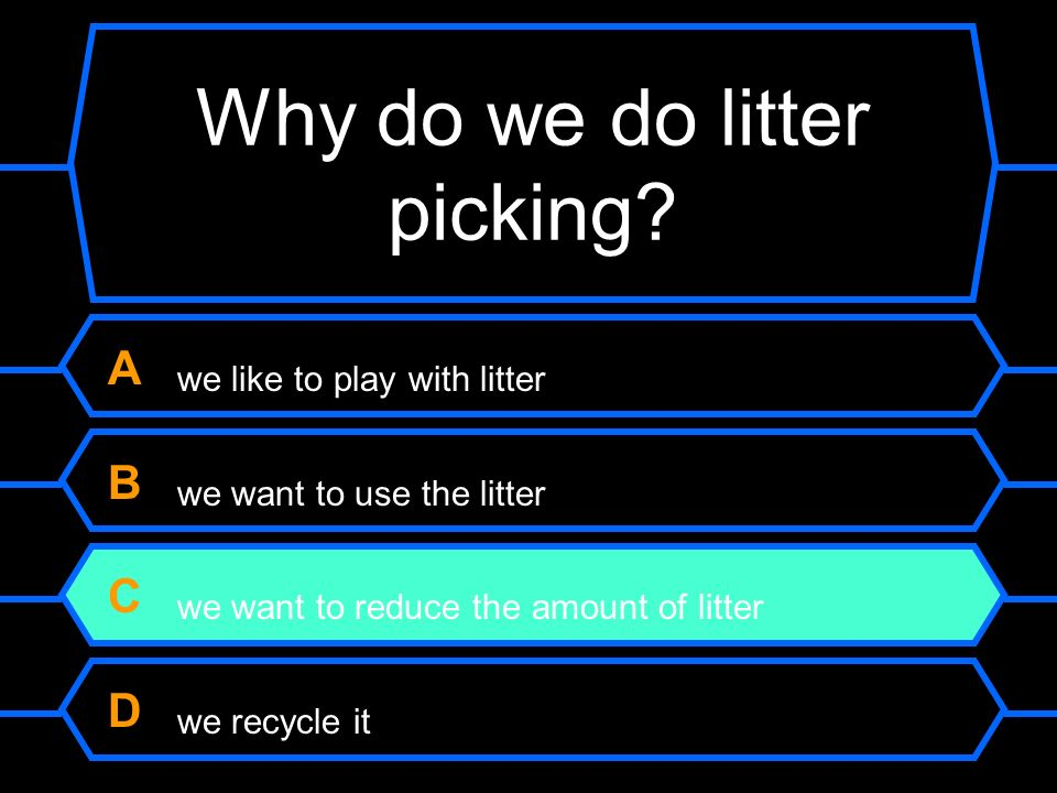 Why do we do litter picking.