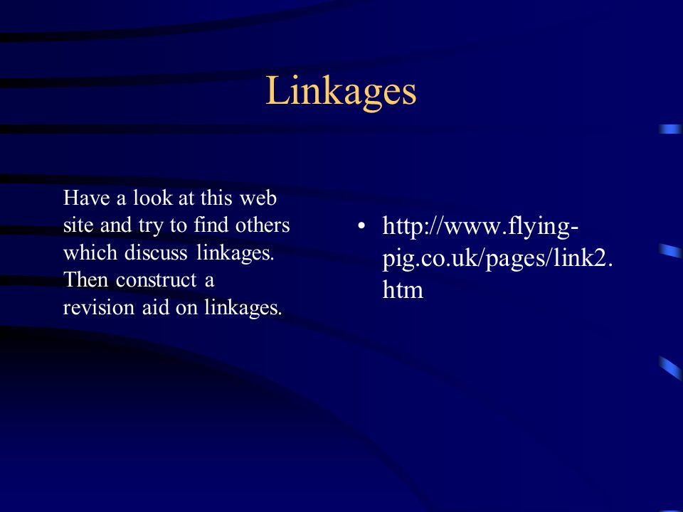 Linkages http://www.flying- pig.co.uk/pages/link2.