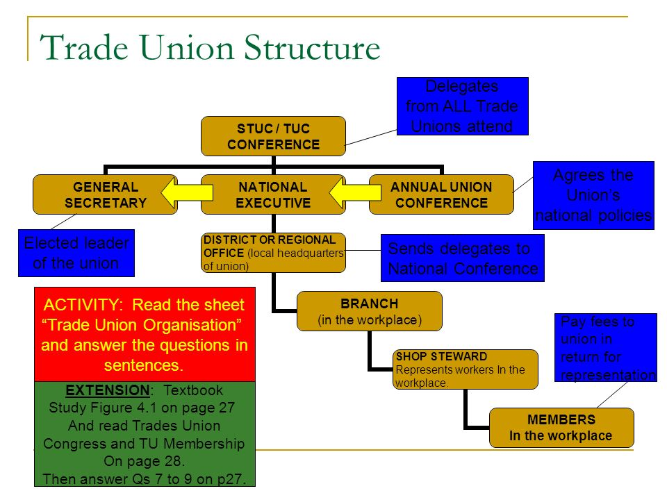 Rights and Responsibilities AIM: To understand the rights and responsibilities of trade unions and their members.