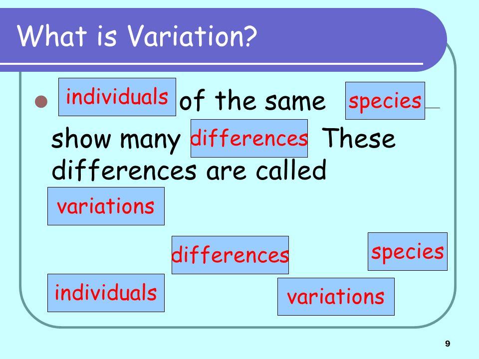 10 Types of variation.