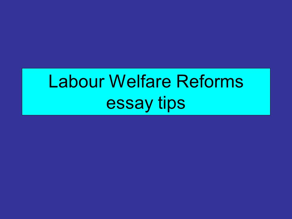 the success of the welfare state essay