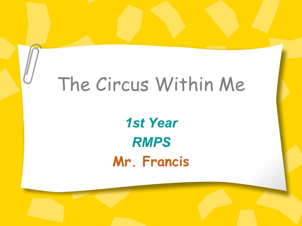 Knox Academy RMPS Department The Circus Within Me Lesson Aims and Objectives: -Find out about our different behaviours.