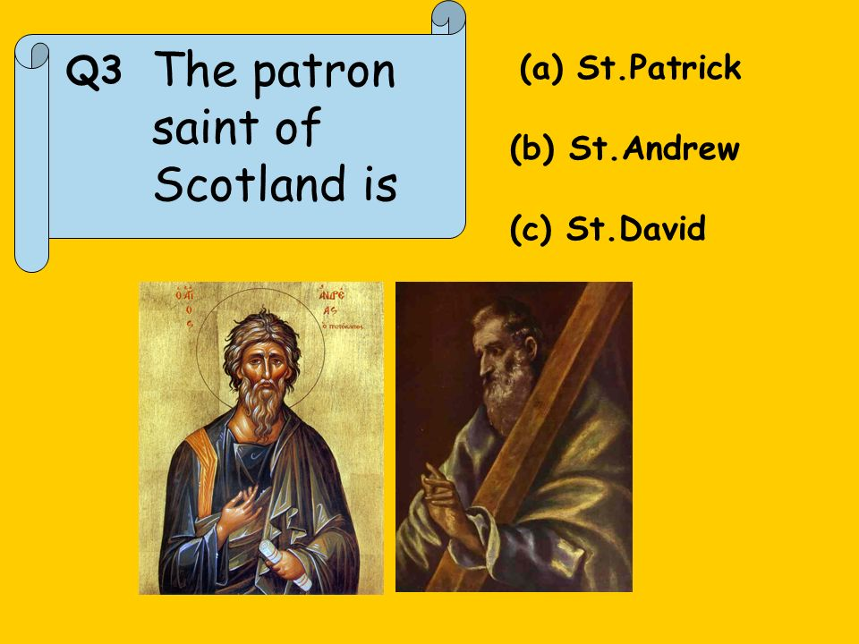 Q4. Which one of these isnt Scottish? Sean Connery Mel Gibson Gordon Brown Billy Connelly
