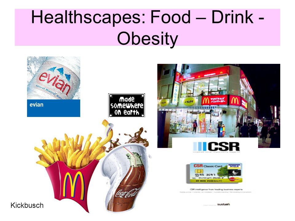 Healthscapes: Food – Drink - Obesity Kickbusch