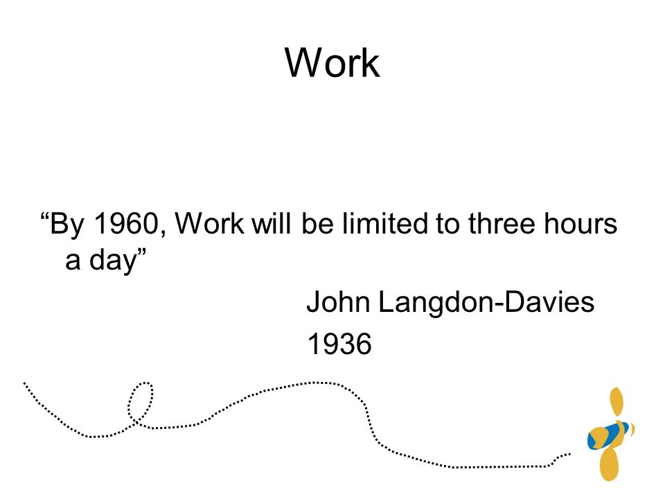 Work By 1960, Work will be limited to three hours a day John Langdon-Davies 1936
