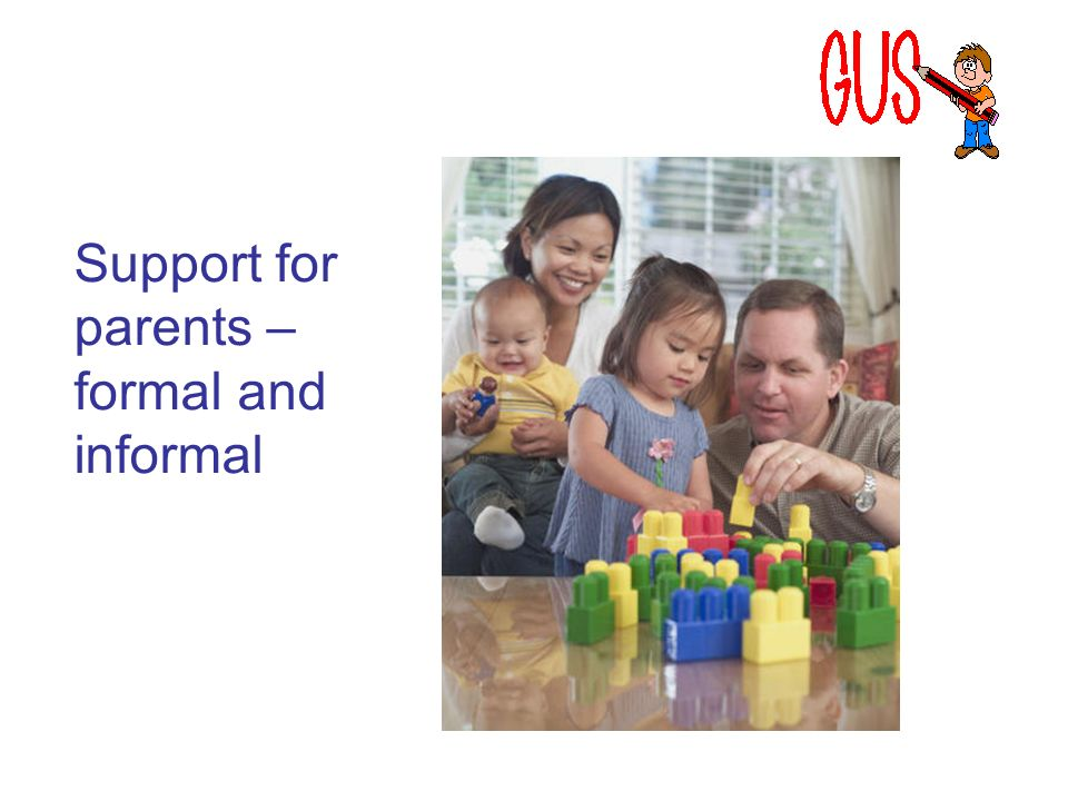 Support for parents – formal and informal