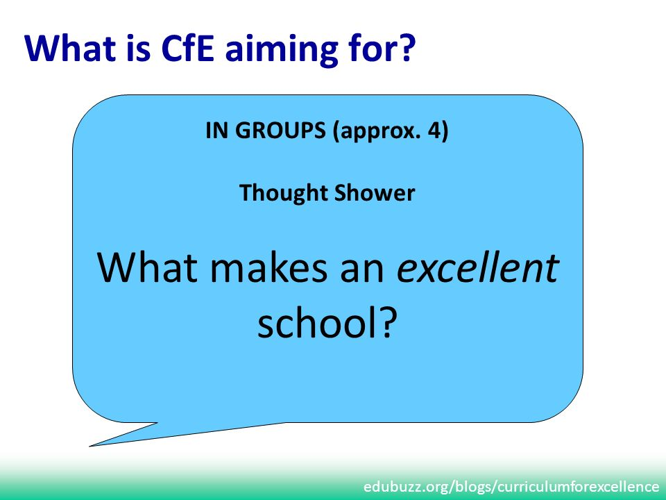 edubuzz.org/blogs/curriculumforexcellence What is CfE aiming for.