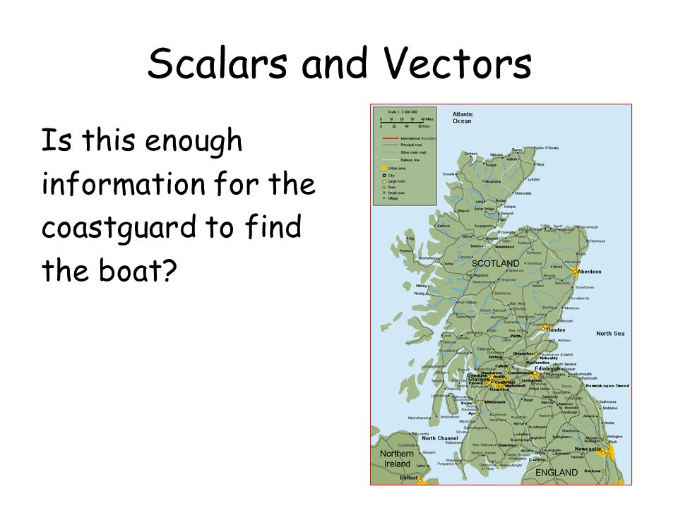 Scalars and Vectors Is this enough information for the coastguard to find the boat?