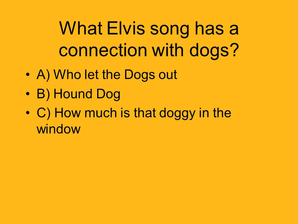 What Elvis song has a connection with dogs.