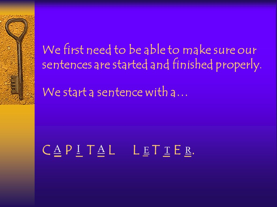 On the keyboard we make letters look like CAPITALS by using the SHIFT button.