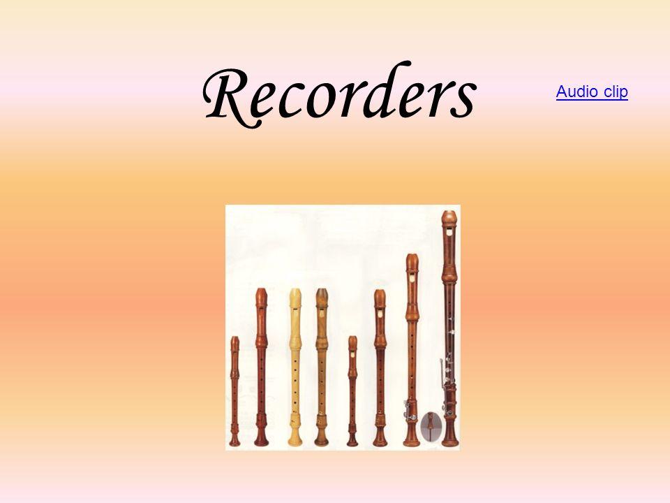 Recorders Audio clip