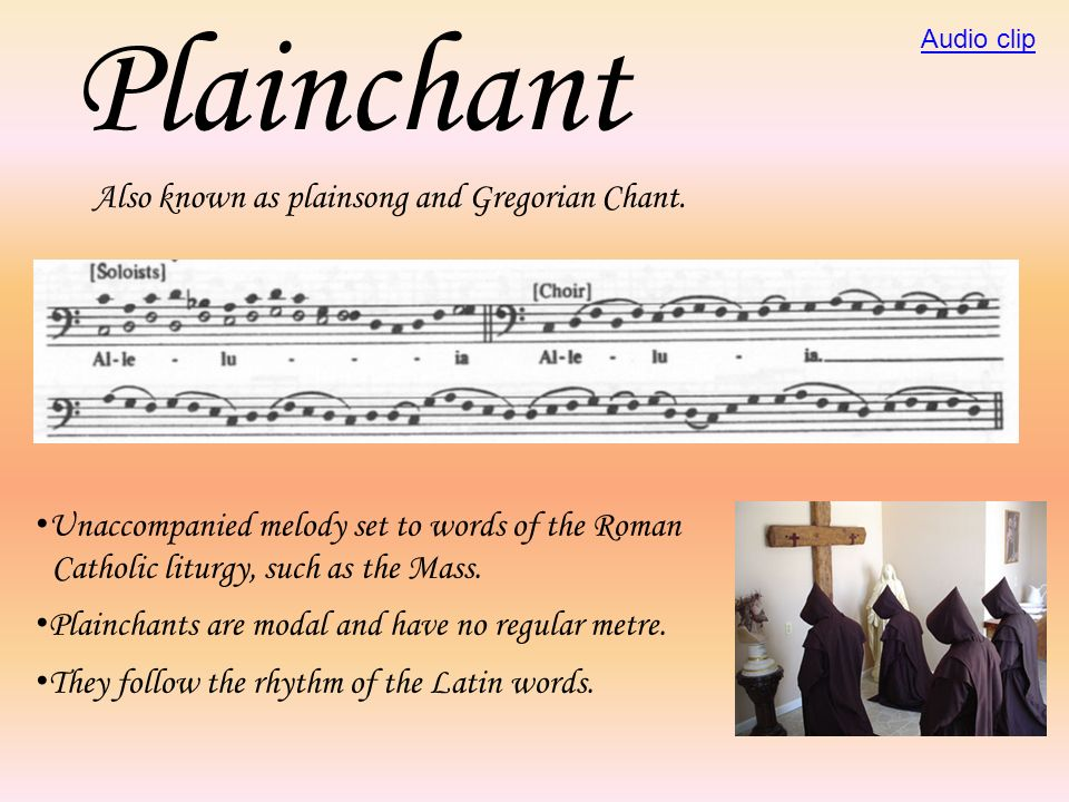 The Mass A sacred choral work using the Six main sections of the Roman Catholic church liturgy.