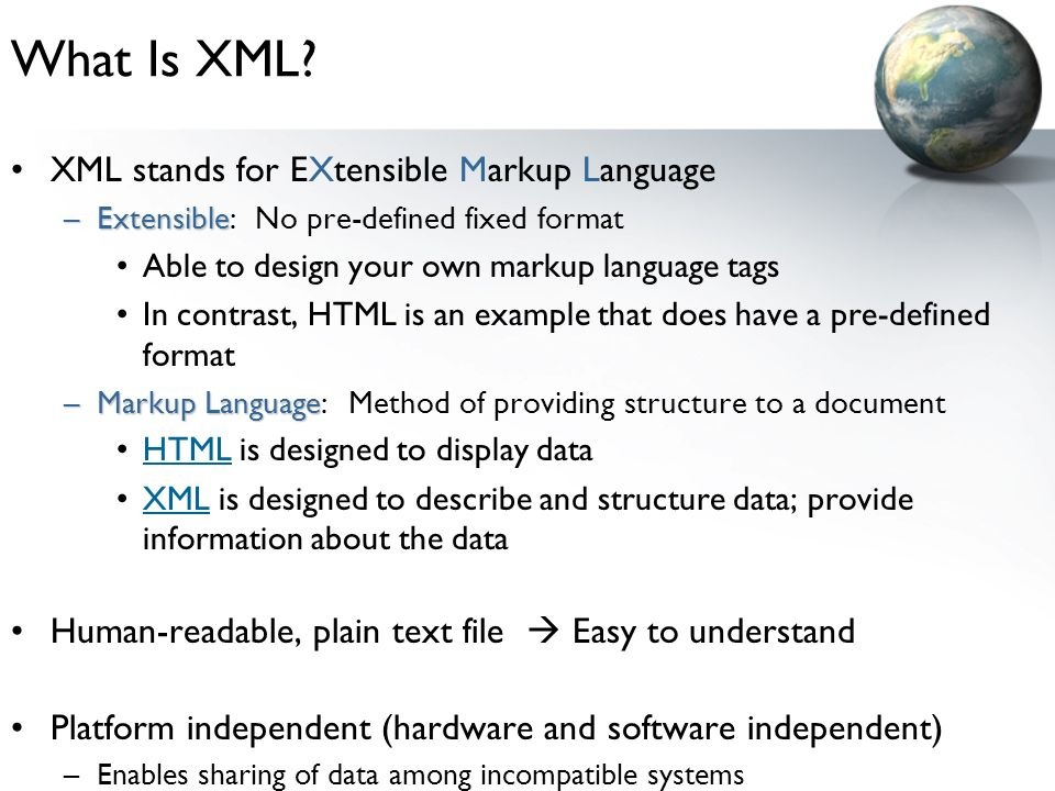 What Is XML.