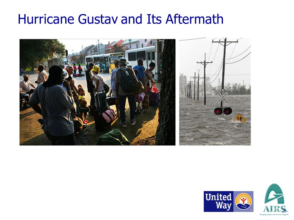 Hurricane Gustav and Its Aftermath TWO MILLION EVACUATED 29