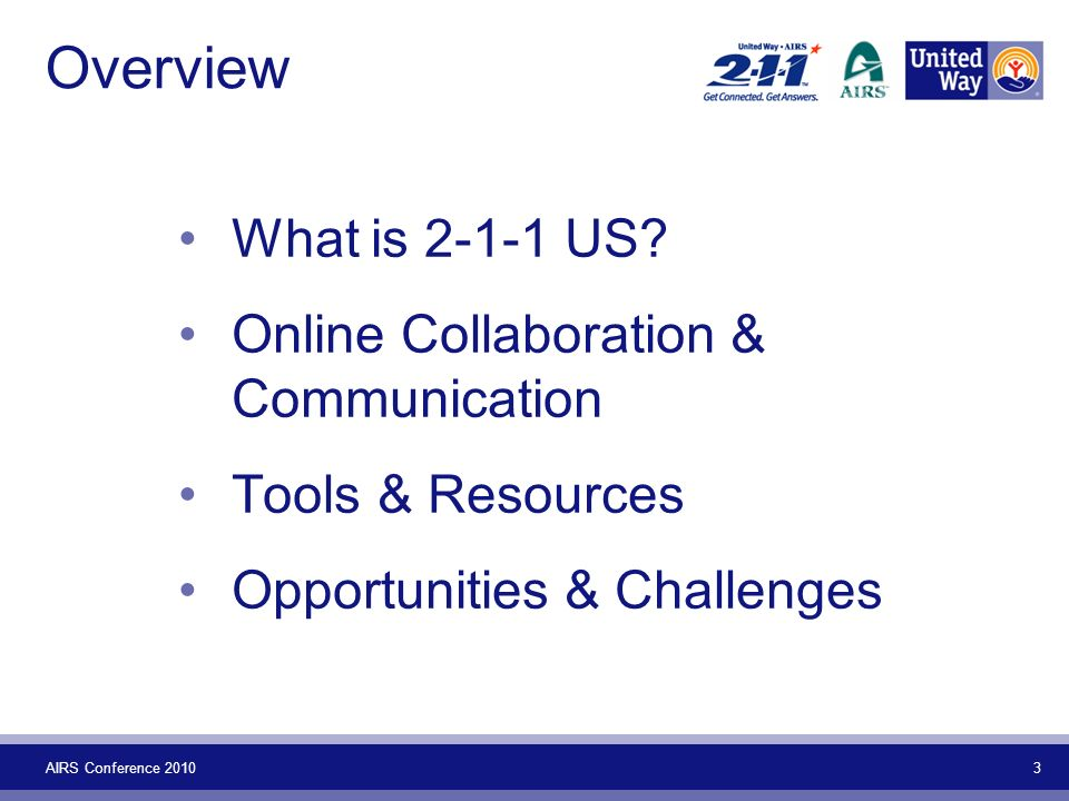 AIRS Conference Overview What is US.