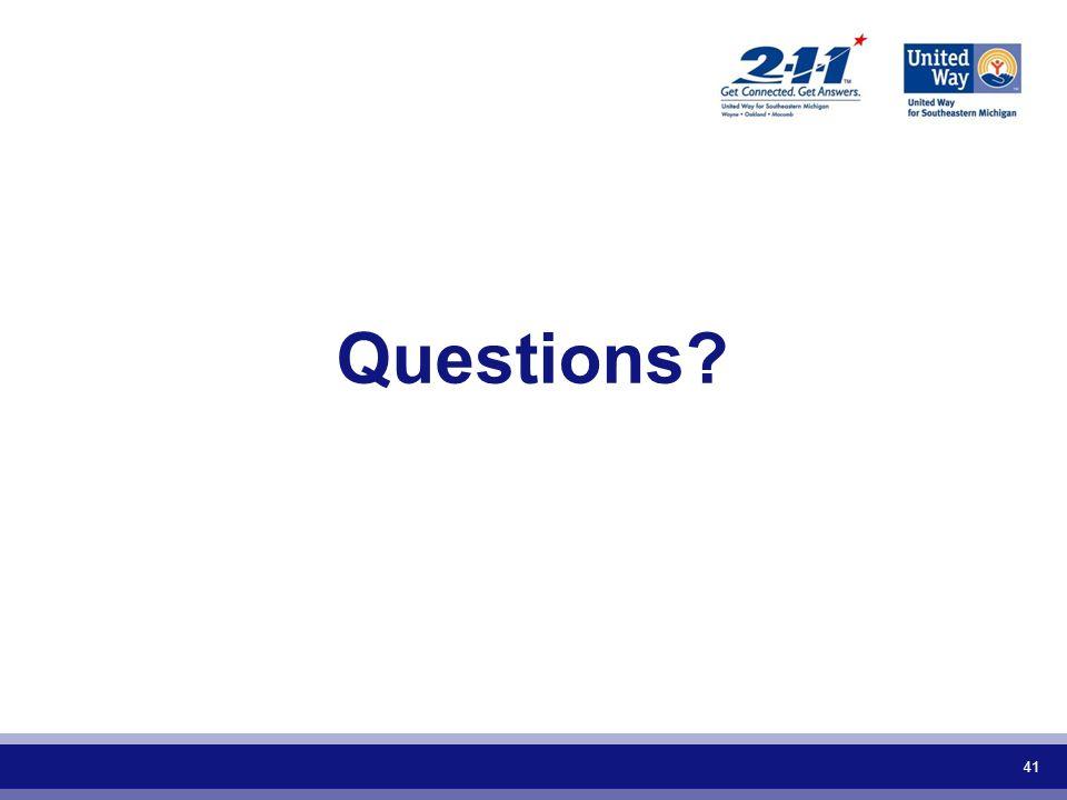 41 Questions?