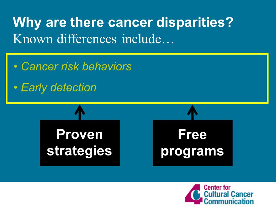 Why are there cancer disparities.