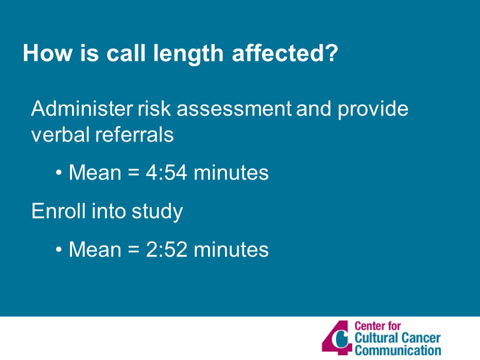 How is call length affected.