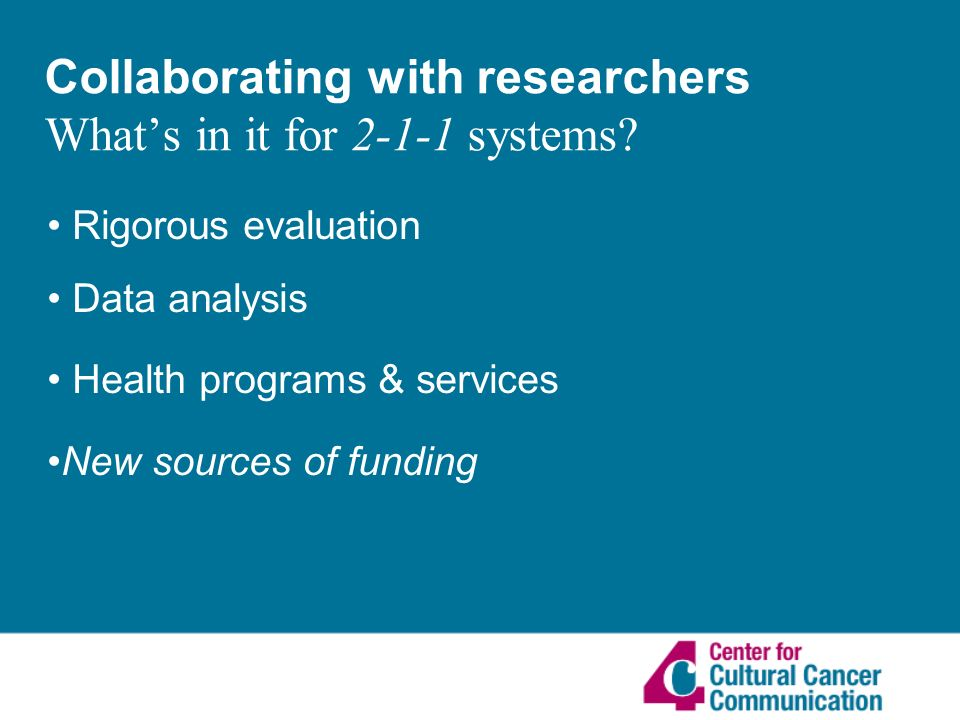 Collaborating with researchers Whats in it for systems.