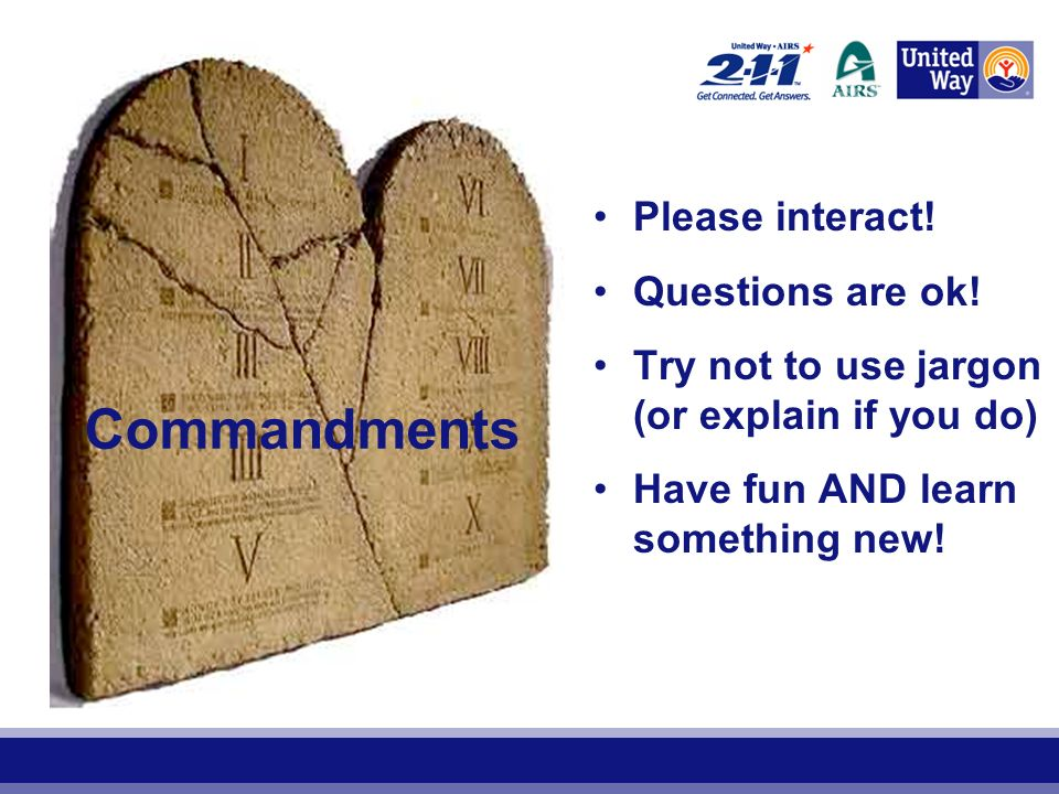 Commandments Please interact. Questions are ok.