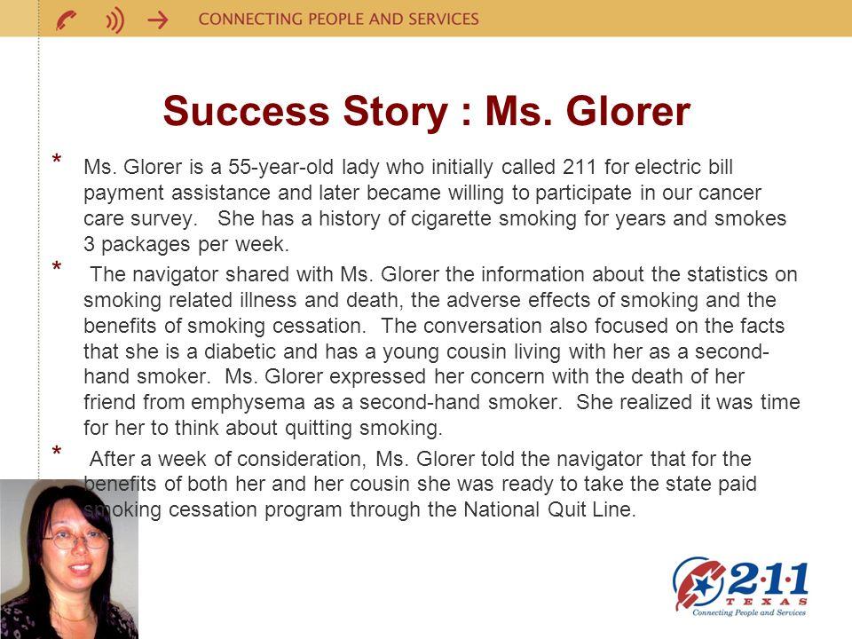 Success Story : Ms.Glorer * Ms.