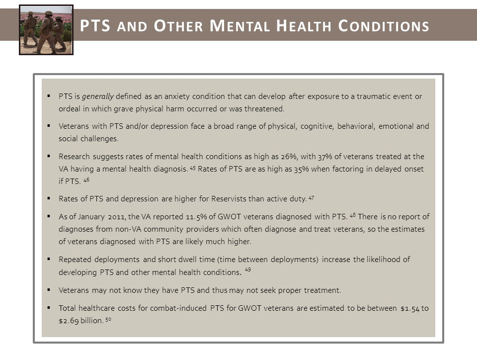 PTS is generally defined as an anxiety condition that can develop after exposure to a traumatic event or ordeal in which grave physical harm occurred or was threatened.
