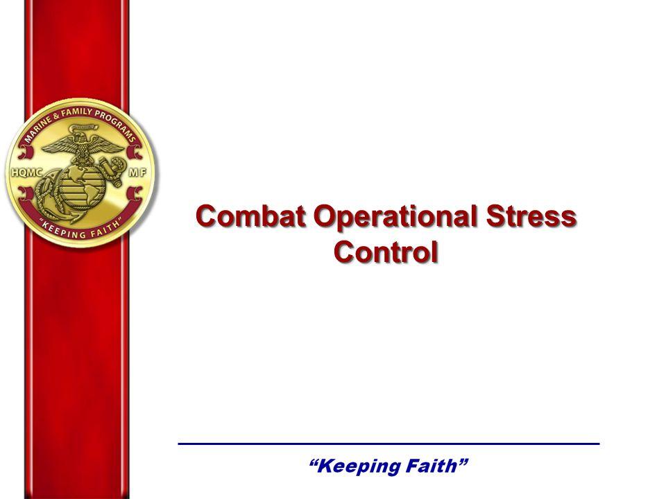 Combat Operational Stress Control