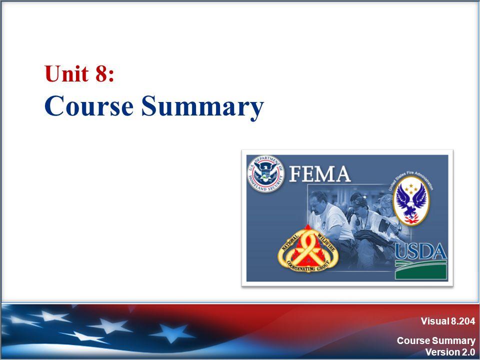 Visual 8.204 Course Summary Version 2.0 Unit 8: Course Summary