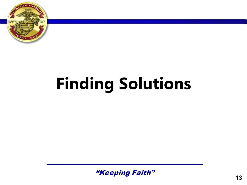 Finding Solutions 13
