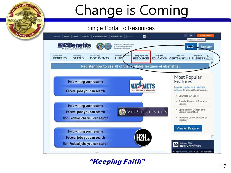 17 Change is Coming Single Portal to Resources