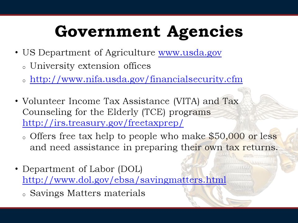 Government Agencies Federal Trade Commission   o Consumer protections and educational material on economics Securities and Exchange Commission   o Higher level education: Identity Theft Flags, and Seeking Small Business Input o Investor.gov Department of the Treasury   o Higher level financial information (Tax, Bonds, Securities, Housing struggles, etc)