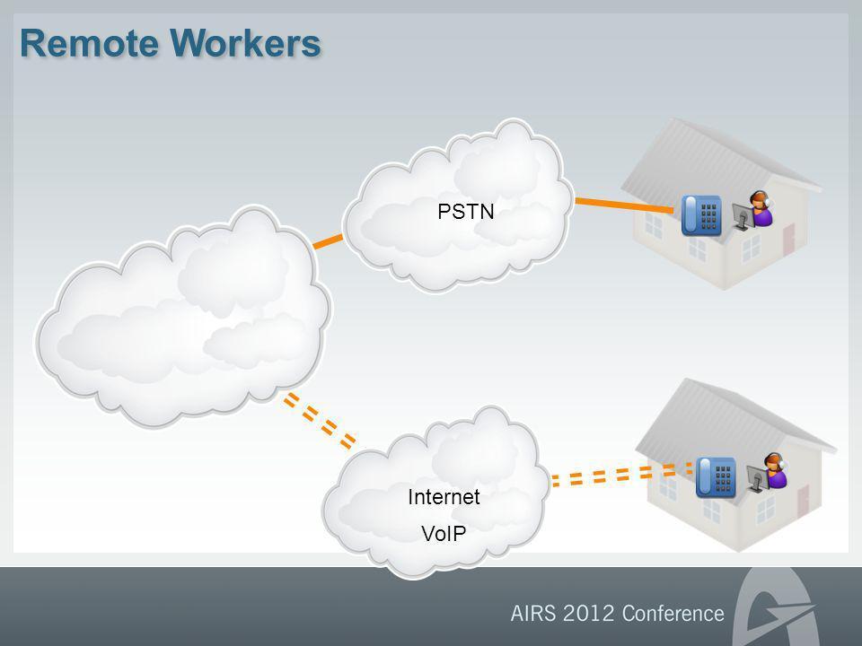 Remote Workers PSTNInternet VoIP