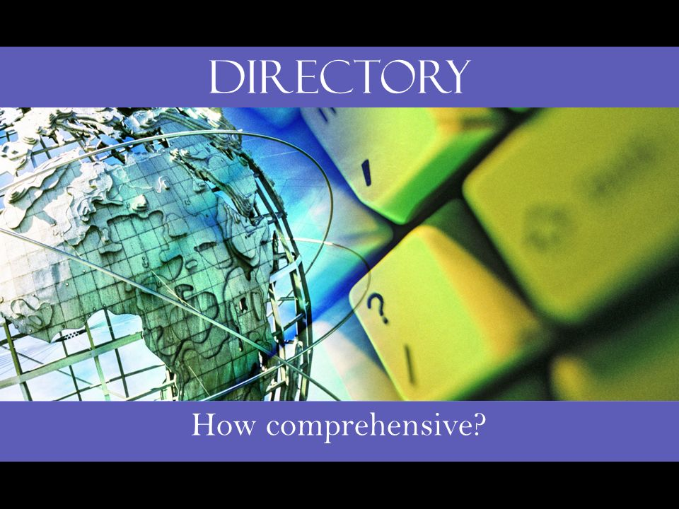 How comprehensive Directory