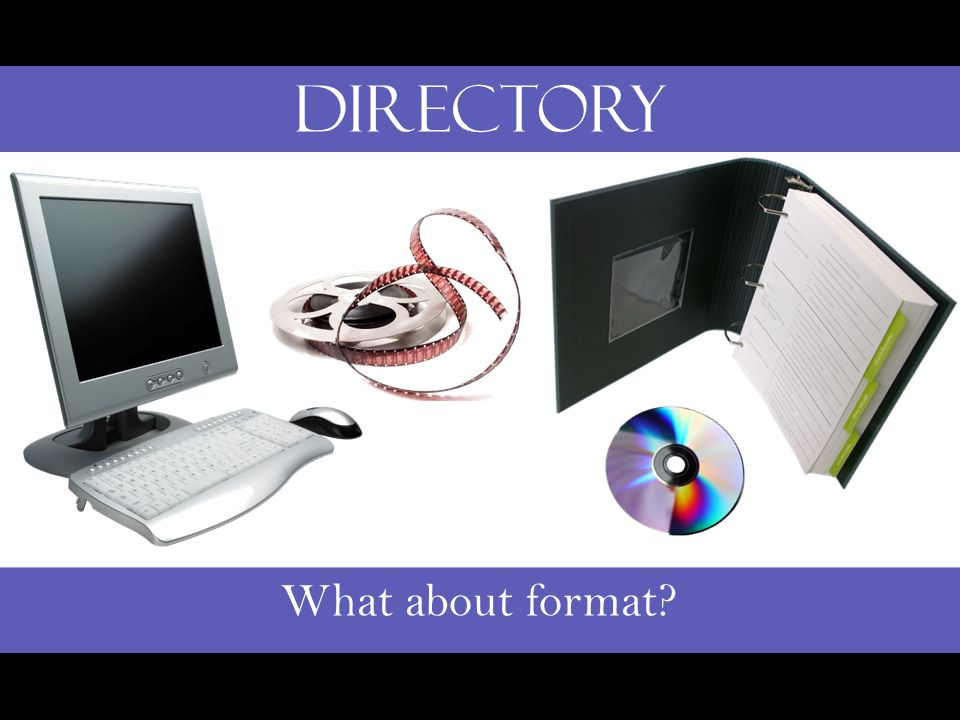 What about format? Directory