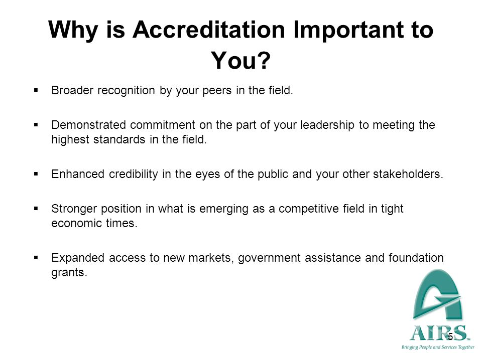 6 Are you Ready to Apply for Accreditation .