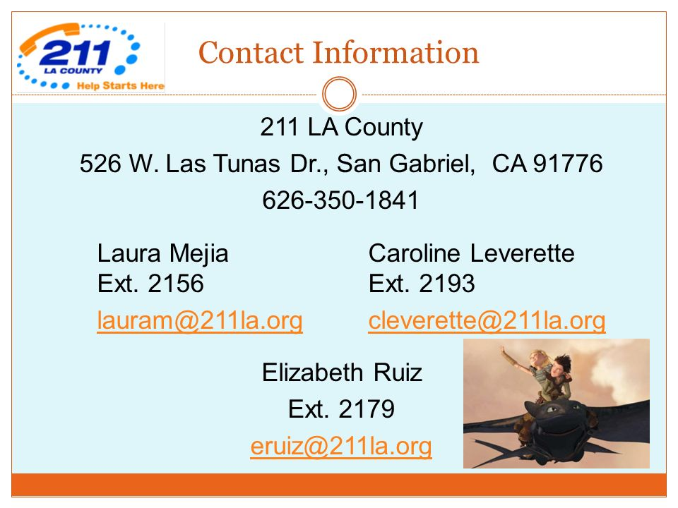 Contact Information 211 LA County 526 W.