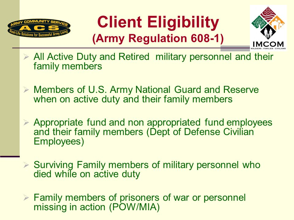 Who does AER help.Active and Retired Soldiers and their dependents U.