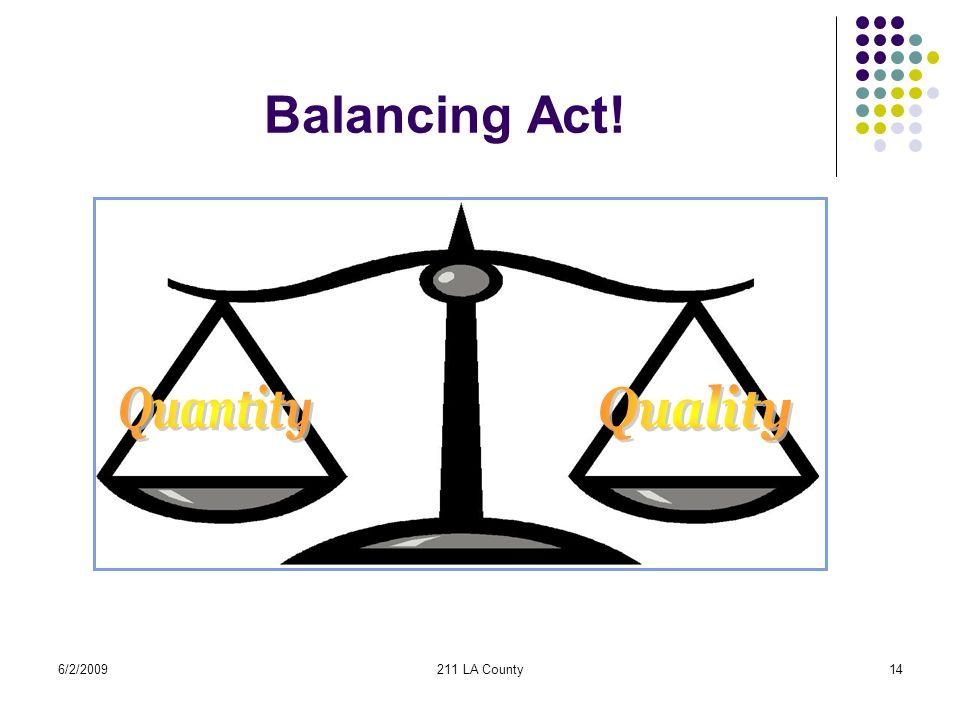 6/2/2009211 LA County14 Balancing Act!