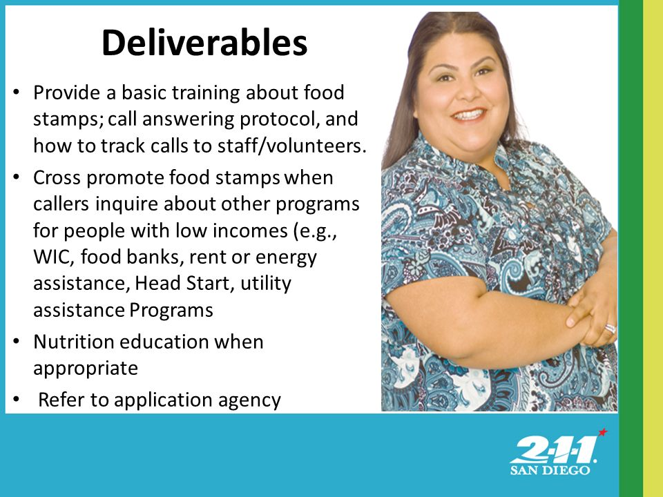 Provide a basic training about food stamps; call answering protocol, and how to track calls to staff/volunteers.