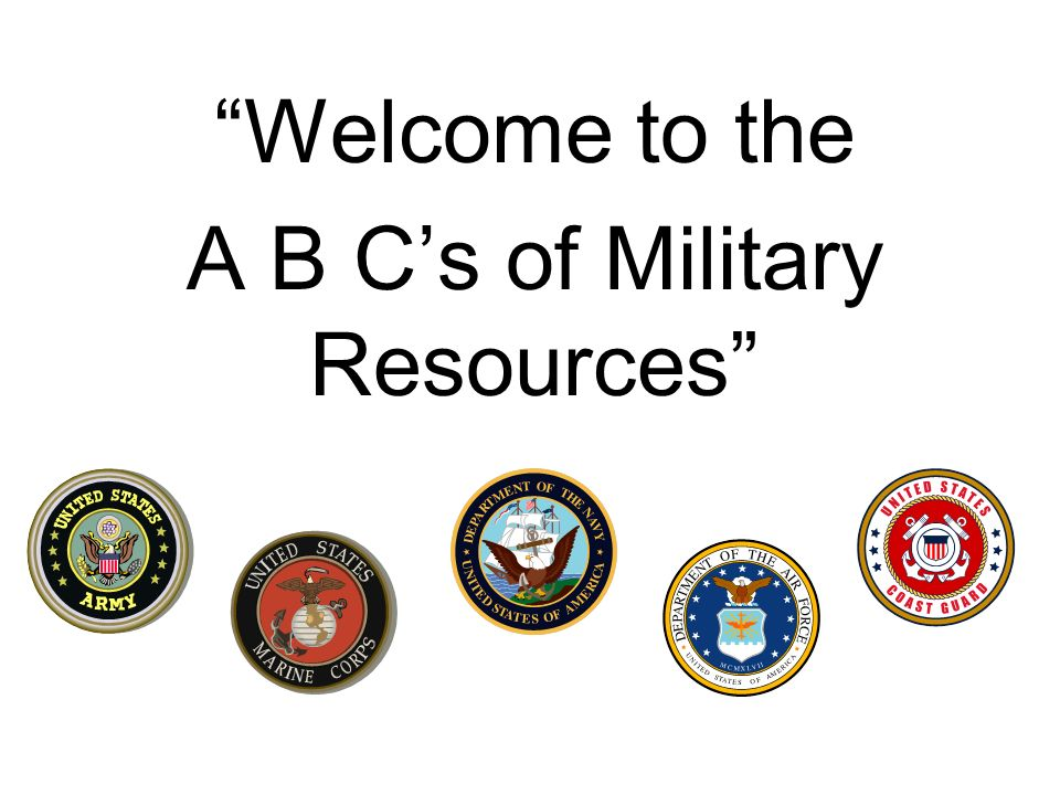 Welcome to the A B Cs of Military Resources
