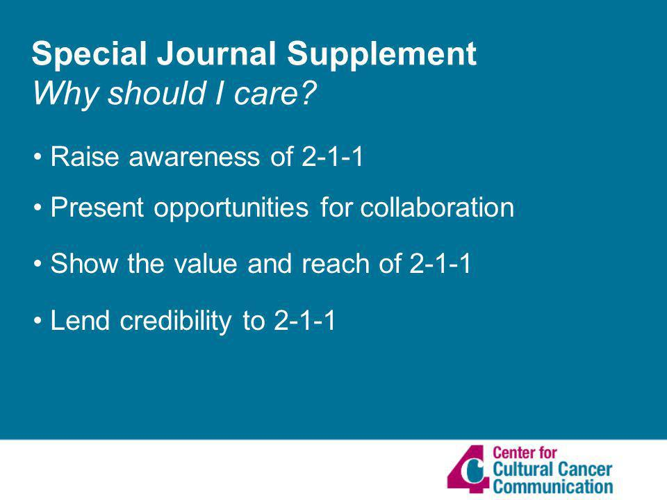 Special Journal Supplement Why should I care.