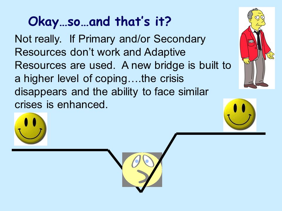 Okay…so…and thats it? Not really. If Primary and/or Secondary Resources dont work and Adaptive Resources are used. A new bridge is built to a higher l