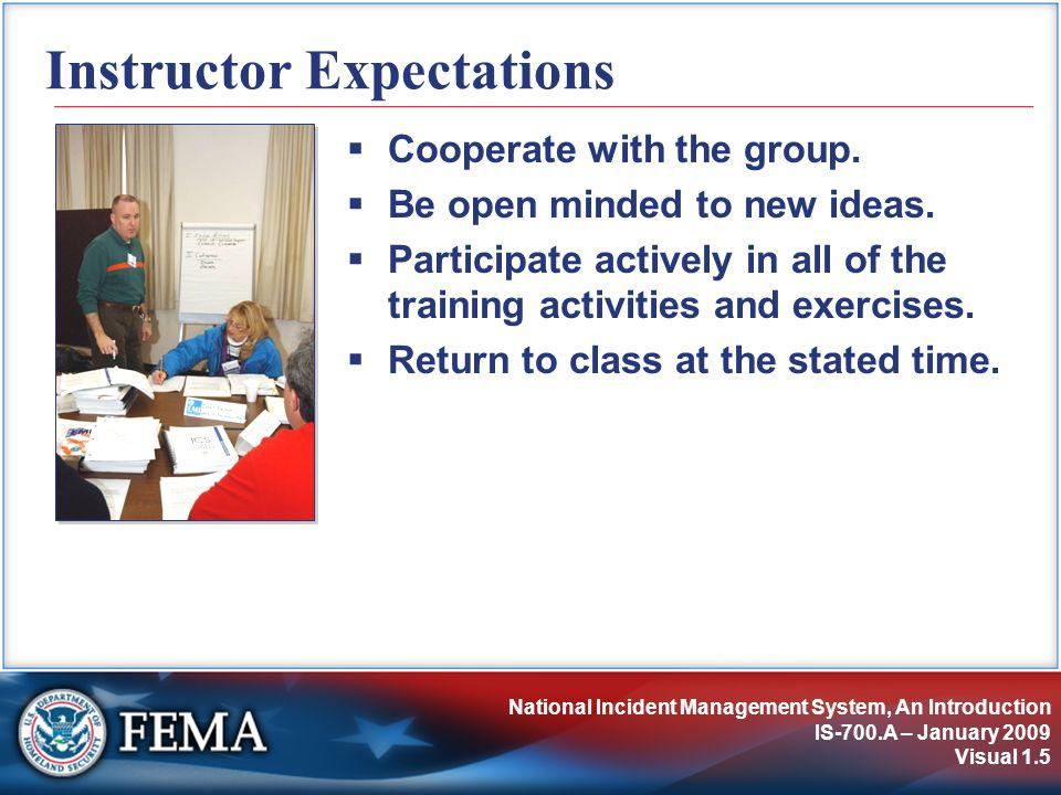 NIMS Preparedness IS-700.A – January 2009 Visual 3.26 Unit Objectives Describe the importance of preparedness.