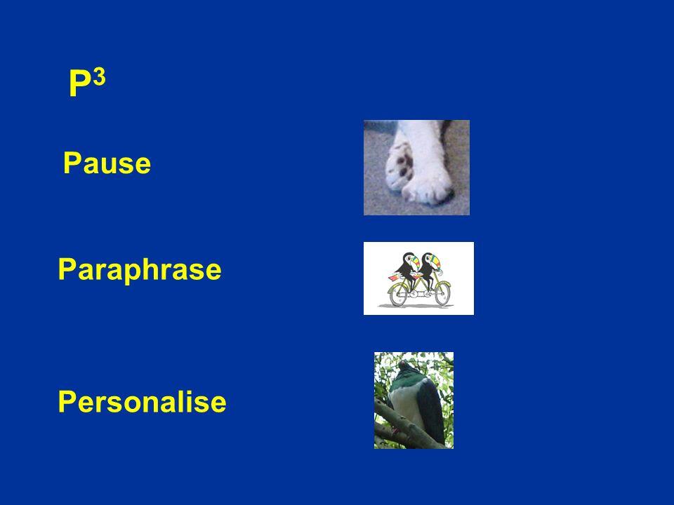 P3P3 Pause Paraphrase Personalise