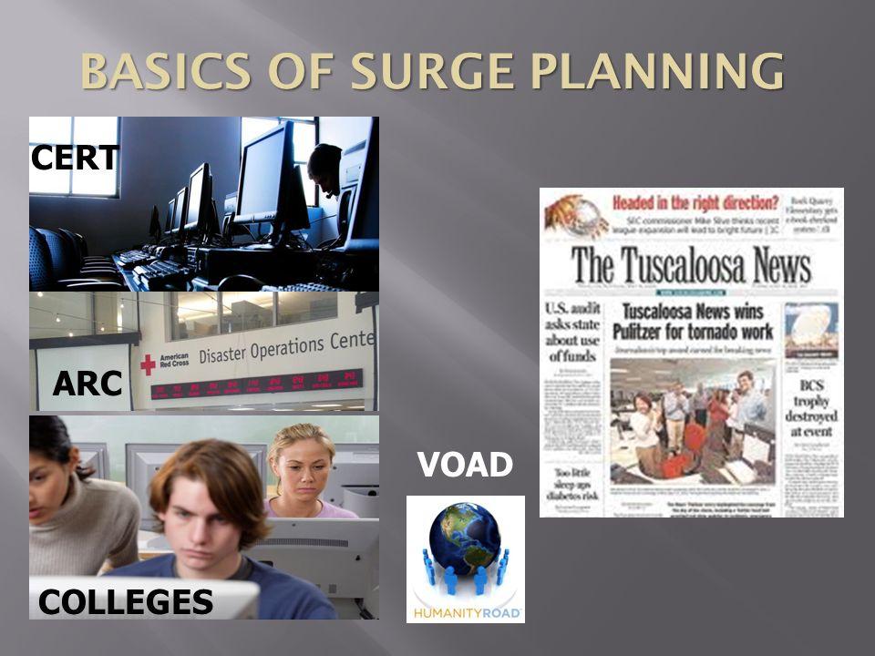 BASICS OF SURGE PLANNING CERT COLLEGES VOAD ARC