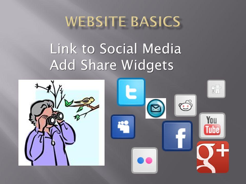 Link to Social Media Add Share Widgets